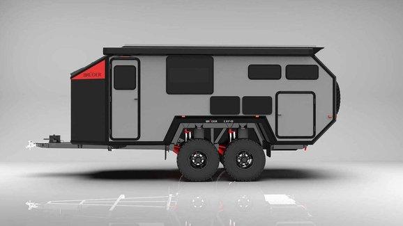 Terénní karavan Bruder EXP-8 slibuje úžasný komfort i v naprosté divočině
