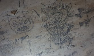 OBRAZEM: Mysteriózní jeskynní malby karibských indiánů. Děsivý mediciman i pták lovící rybu