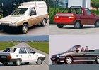 Škoda Favorit nevznikla jen jako hatchback. Pamatujete si praktiky, stylovky nebo elektrovozy?