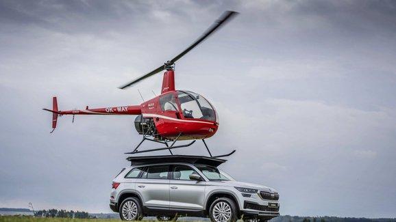Škoda Kodiaq jako přistávací plocha vrtulníku? Ano, stačilo minimum úprav